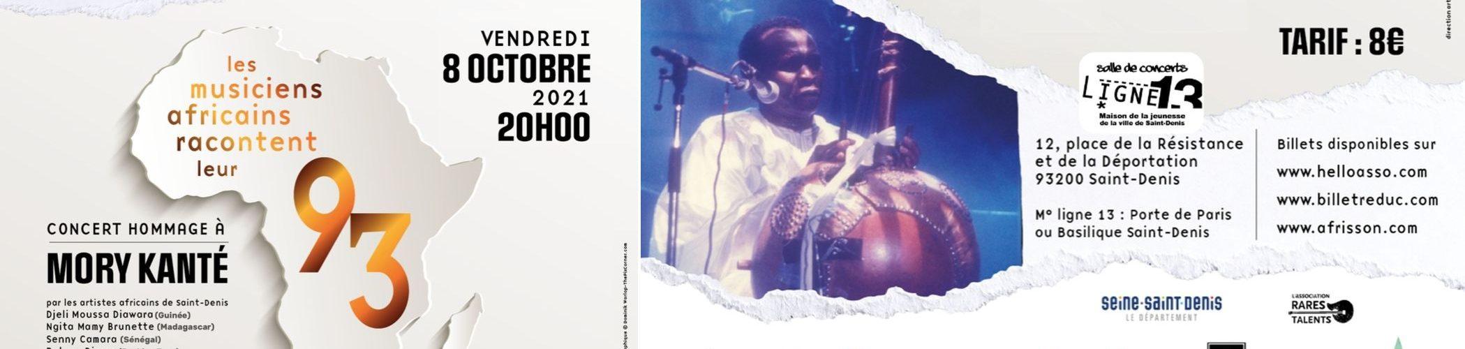 Bandeau concert Mory Kanté 8 octobre 2021